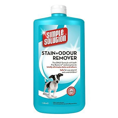 Simple Solution Stain & Odour Remover for Dogs 1 Litre Cleans Carpets Furniture