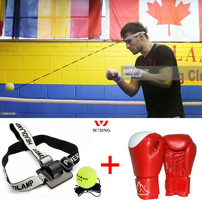 Sport Tennis Magic Boxing Glove Training Speed Ball Rubberband Training Practice