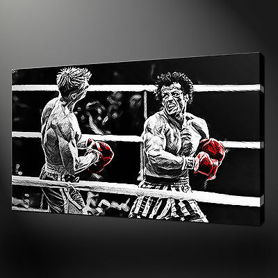 Rocky Balboa Drago Canvas Wall Art Picture Print Variety Of Sizes Free Uk P&P