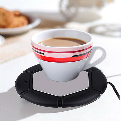 Hot Desktop Tea Cup Mug Pad USB Warmer Heater USB Heat Preservation Mat lot AX