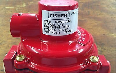Fisher H.P.Regulator R122H-AAJ 1/4 Inlet x 1/2 Outlet