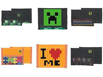 Pixie Crew Creative fun wallet - MNCRFT / Jigsaw/ Skeletons / Lines / Minecraft