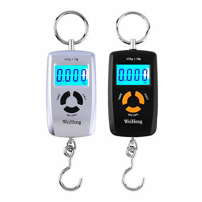 WH-A05L LCD Portable Digital Electronic Scale 10-45kg 10g for Fishing Luggage AX