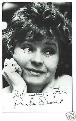 Prunella Scales Actress Hand Signed  Photograph 5 X 3