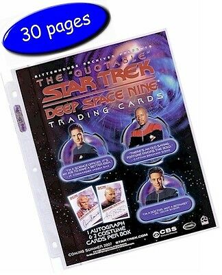 """Ultra-Pro 1 Pocket Pages 8.5""""x11"""" Platinum Series 3-Hole - Box/Pack Of 30 Pages"""