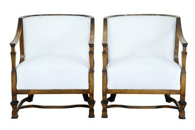 Pair Of Swedish Art Deco Birch Grace Chairs Attributed To Erik Chambert