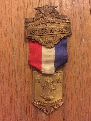 1932 Republican National Convention PRESIDENT HERBERT HOOVER Sgt. Badge Medal
