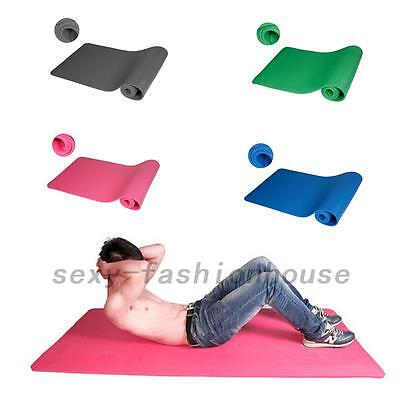 Sport Fitness Travel Exercise 10 mm Thick Non-Slip Yoga Mat Lose Weight Durable
