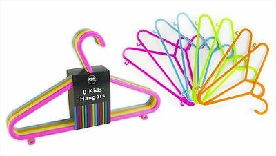 48xBaby Clothes Hangers Toddler Childrens Kids Coat Plastic Space Saver Slim New