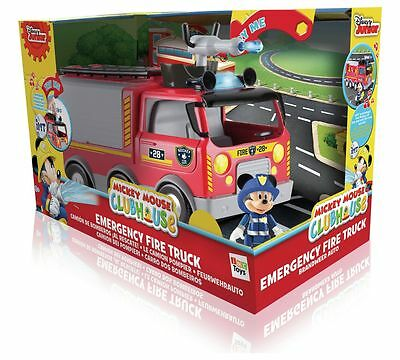 DISNEY CLUBHOUSE Mickey Mouse Emergency Fire Truck Mickey Fireman Official