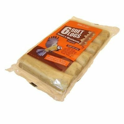 Suet to Go Suet Logs Wild Bird Food Berry/Bugs or Insect 6Pk x 6