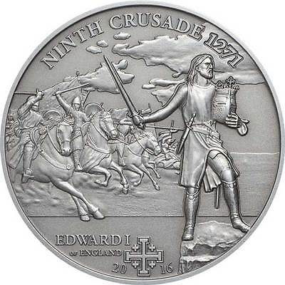 2016 Edward 1st's 9th Crusade – 25g Antiqued Silver Coin