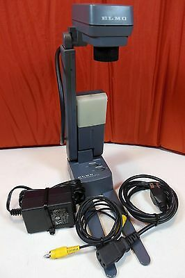 ELMO Desktop Visual Presenter DT-70 W/ Power & Video Cable. Portable For Travel.