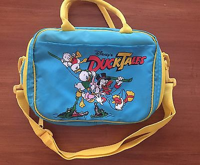 Vintage 1987 Disney Ducktales Lunch/Travel Bag By Aladdin Blue w/ Yellow Strap