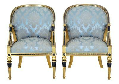 Pair Of 19Th Century Gothenburg Gilt Armchairs