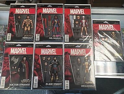 Huge Marvel Comic Lot of 25 Action Figure Variant Covers