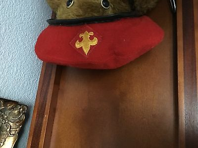 Vintage Official Headwear Boy Scouts of America Red pure Wool Uniform Beret  S