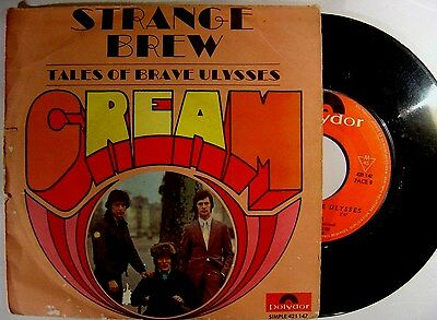 CREAM strange brew /tales of brave Ulysses FRENCH 45 POLYDOR 67*ACID PSYCH BLUES