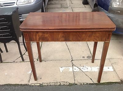 Victorian Mahogany Games Table Side Table