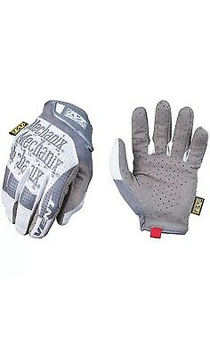 Mechanix Specialty Ventilated WHITE GREY XL Extra Large Work Gloves 11 Free Ship