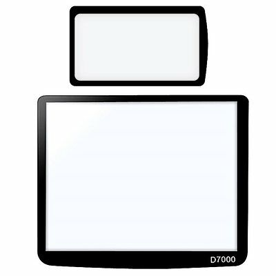 07S8 2-LCD Kit Screen Protector Glass Compatible with Nikon D7000