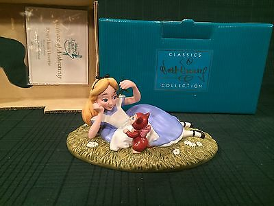 """WDCC Alice In Wonderland & Dinah """"Riverbank Reverie"""" Limited Edition 1,500 - New"""