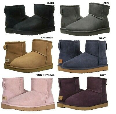 NEW UGG Women s Classic Mini II Winter Boots Shoes Black Chestnut Grey Navy  Sand 1a1841a3a