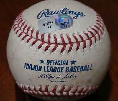 2012 Dodgers Game Used Baseball - Andre Ethier Hit Double 50th Aniv Stadium Ball