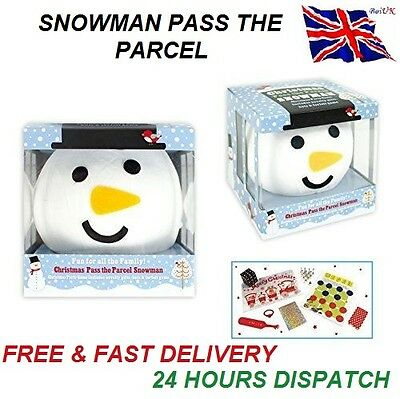 Novelty Family Birthday Game Pass The Parcel Snowman Party Game 8 Prizes