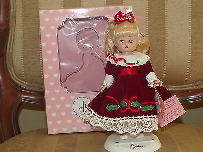 1994 Effanbee Annual Christmas Holidays Vinyl Doll 9 in. MV144 With Box