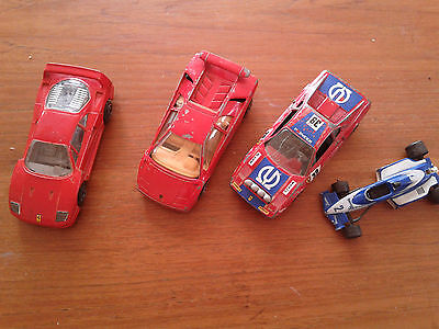 4 Vintage Toy Cars - Made in Italy and France