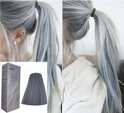 Berina A21 Permanent Hair Color Cream Light Grey Silver Hair Color Kit
