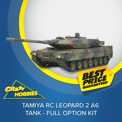 Tamiya RC Leopard 2 A6 Tank - Full Option Kit #56020 CRAZY HOBBIES