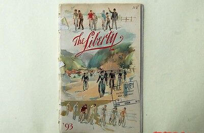 """Very rare antique bicycle """"The Liberty"""" Bussines catalog"""