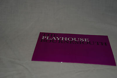 Vintage Bournemouth Playhouse 1985 Theatre Programme: INTENT TO MURDER
