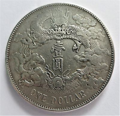 ONE Dollar Silver Coin China Dragon Münze Silber CHINA -DOLLAR Drache
