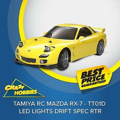 TAMIYA RC Mazda RX-7 - TT01D LED Lights Drift Spec RTR #57766 CRAZY HOBBIES