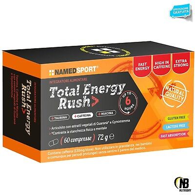 NAMED SPORT Total Energy Rush 60 cpr. Energetico con Taurina Niacina e Guarana'