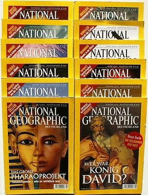 National Geographic Jahrgang 2005 ( 1 2 3 4 5 6 7 8 9 10 11 12 ) in Z1 bis Z2+