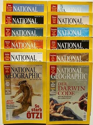 National Geographic Jahrgang 2007 ( 1 2 3 4 5 6 7 8 9 10 11 12 ) in Z1 bis Z2+