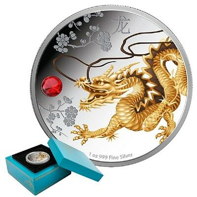 2015 Feng Shui Dragon - 1oz Limited Edition Proof Silver Coin
