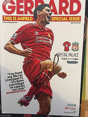 3 STEVEN GERRARD SIGNED PROGRAMMEs  Last Game Unfair Final & Worthington 7-12-16