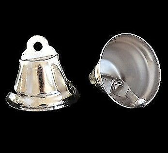 5 x Nickel Plated Liberty Bells 22mm - Silver Pet Rabbit Parrot Bird Toy Parts