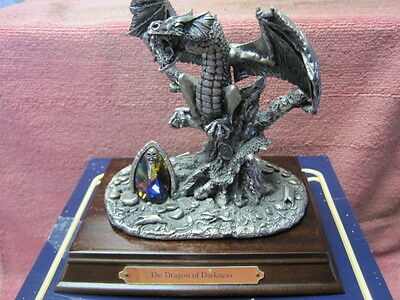 Tudor Mint The Dragon Of Darkness displayed not injured  heavy pewter with box