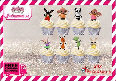 Bing 24 Stand-Up Pre-Cut Wafer Paper Cup cake Toppers