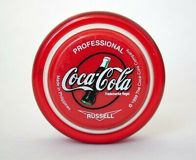 GREAT CONDITION 1999 Coca-Cola Yo-Yo PROFESSIONAL Toy RUSSELL Red + string pack