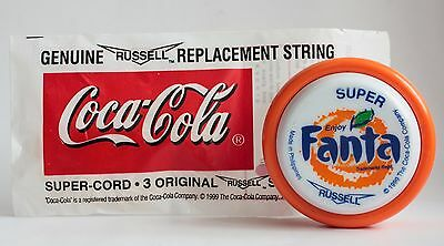 GREAT CONDITION 1999 Fanta SUPER Yo-Yo Toy RUSSELL Coca-Cola Company string pack