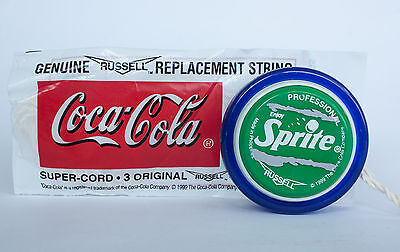 GREAT CONDITION 1999 SPRITE PROFESSIONAL Yo-Yo Toy RUSSELL Coca-Cola string pack