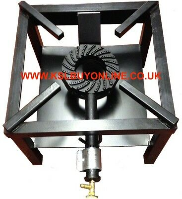 Large Cast Iron large Gas LPG Burner Cooker Gas Boiling Ring Restaurant Catering
