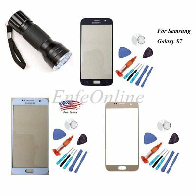 Samsung GALAXY S7 Front Touch Screen Lens Replacement Glass+Tools +UV Glue/Light